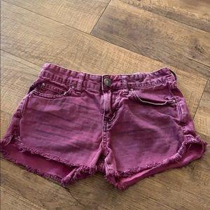 Purple Free People shorts